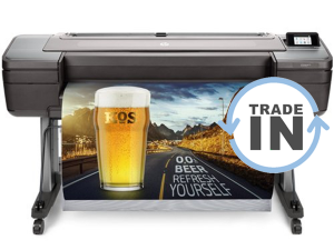 HP Z6 44 inch printer on stand with trade-in offer