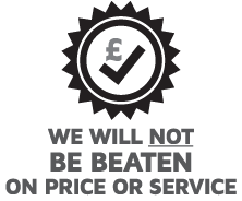 we will NOT be beaten on price or service