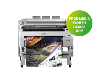 Epson SC-T5200 Printer with free paper bundle offer