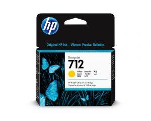 HP 712 29ml Yellow DesignJet Ink Cartridge