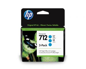 HP 712 3x29ml Cyan DesignJet ink Cartridge