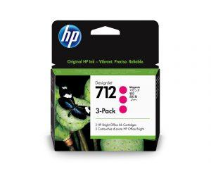 HP 712 3x29ml Magenta DesignJet Ink Cartridge
