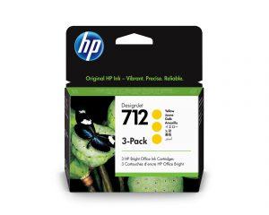 HP 712 3x29ml Yellow DesignJet Ink Cartridge