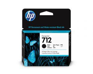 HP 712 80ml Black DesignJet Ink Cartridge