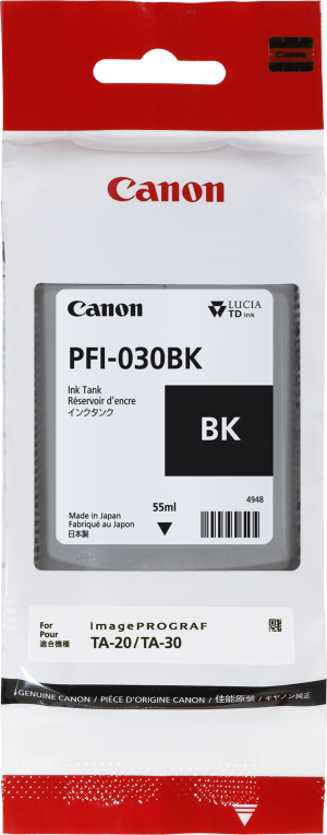 Canon PFI-030BK Black ink