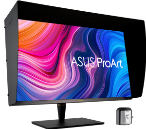 ASUS PA32UCX-PK with a hood