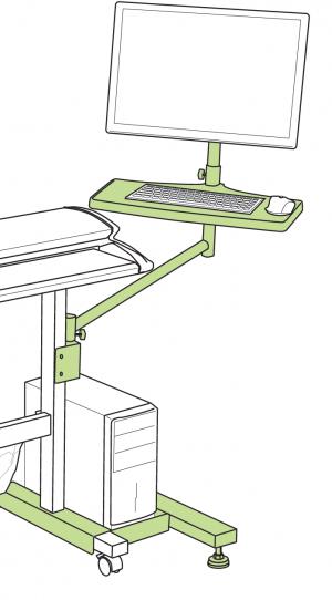 Floor Stand PC Mount